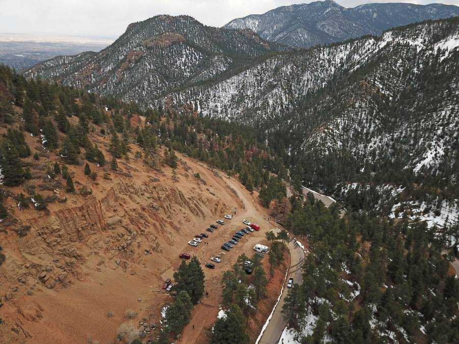 Gold Camp Road parking lot will be upgraded.  / Photo courtesy of the City of Colorado Springs